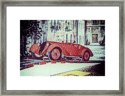 Framed Print featuring the painting 1937 Alfa Romeo 8c 2900a by Boris Mordukhayev