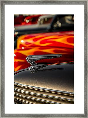 1939 Graham Coupe Hood Ornament Framed Print by Ron Pate