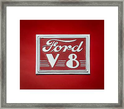 1940 Ford Deluxe Coupe Emblem Framed Print by Jill Reger