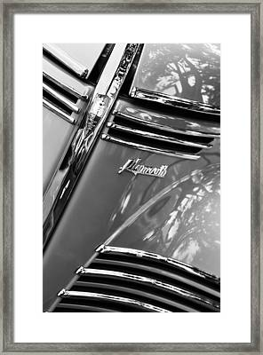 1940 Plymouth Deluxe Woody Wagon Grille Emblems Framed Print