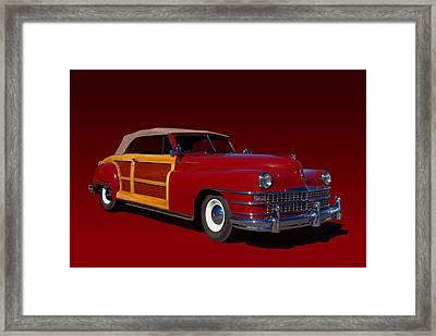 1946 Chrysler Town And Country Convertible Framed Print