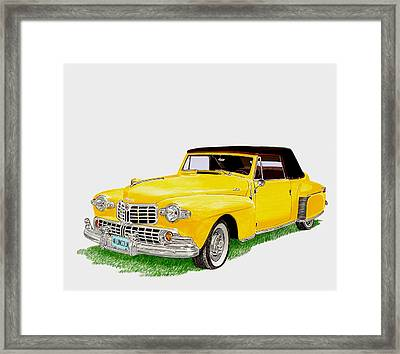 1946 Lincoln Continental Mk I Framed Print by Jack Pumphrey