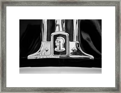 1948 Pontiac Streamliner Woodie Station Wagon Emblem Framed Print
