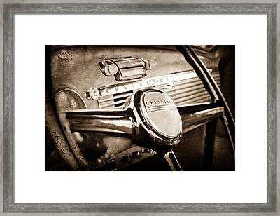 1950 Chevrolet 3100 Pickup Truck Steering Wheel Framed Print