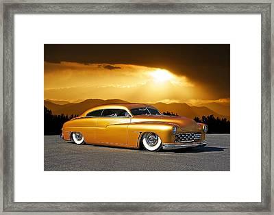 1950 Custom Mercury Framed Print