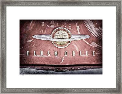 1950 Oldsmobile 88 Hood Emblem Framed Print by Jill Reger