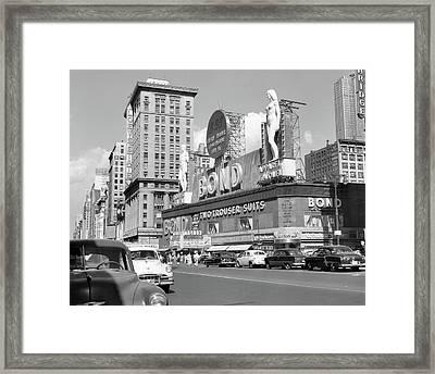 1950s New York City Times Square Framed Print