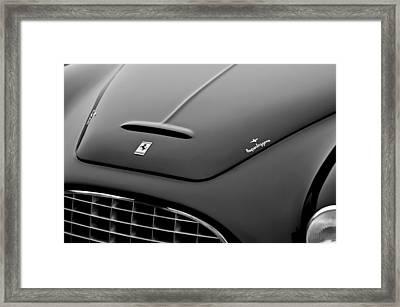 1951 Ferrari 212 Export Touring Berlinetta Hood Emblems Framed Print