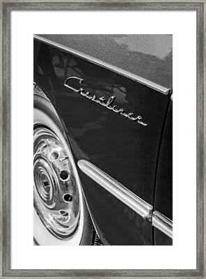 1951 Ford Crestliner Emblem - Wheel Framed Print by Jill Reger