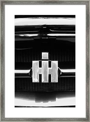1954 International Harvester R140 Woody Grille Emblem Framed Print