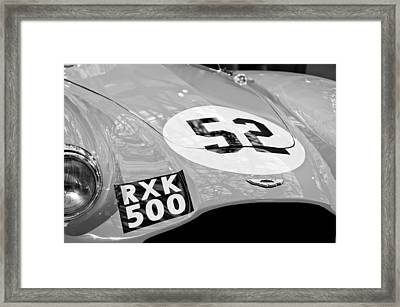1955 Aston Martin Db3s Sports Racing Car Hood Framed Print by Jill Reger
