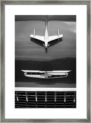 1955 Chevrolet 210 Resto Mod Hood Ornament Framed Print