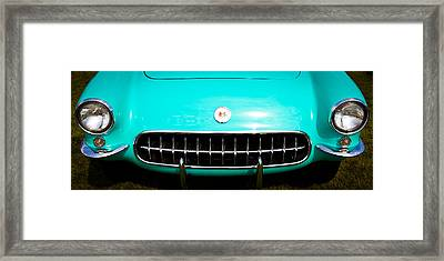 1956 Chevy Corvette Framed Print by David Patterson