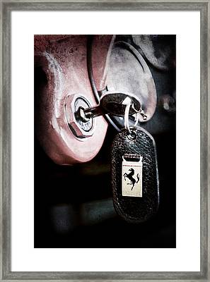 1956 Ferrari 500 Tr Testa Rossa Key Ring Framed Print