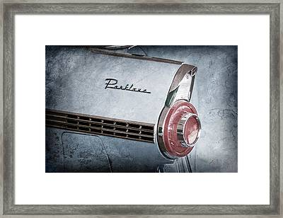1956 Ford Parklane Wagon Taillight Emblem Framed Print by Jill Reger