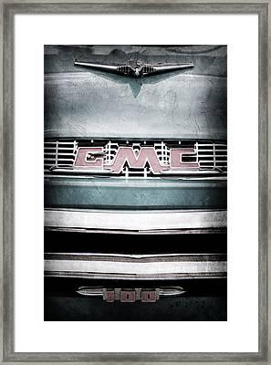 1956 Gmc 100 Deluxe Edition Pickup Truck Framed Print by Jill Reger