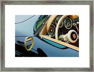 1956 Porsche 356 A Speedster Steering Wheel Emblem Framed Print by Jill Reger