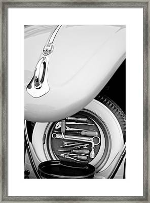 1956 Volkswagen Vw Bug Tool Kit Framed Print by Jill Reger