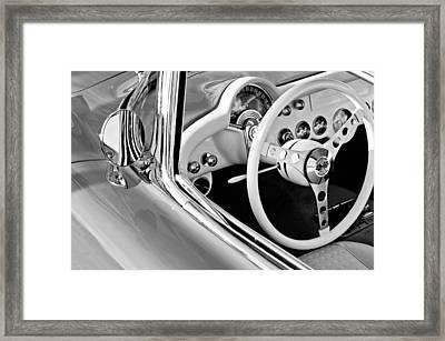 1957 Chevrolet Corvette Steering Wheel Emblem Framed Print