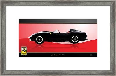 1957 Ferrari 250 Testa Rossa With 3d Badge Framed Print