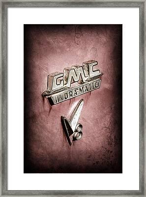 1957 Gmc Hydramatic V8 Emblem Framed Print