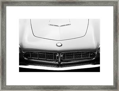 1958 Bmw 507 Series II Roadster Hood Emblem Framed Print by Jill Reger
