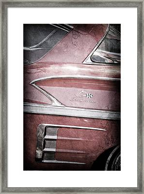 1958 Chevrolet Impala Side Emblem Framed Print