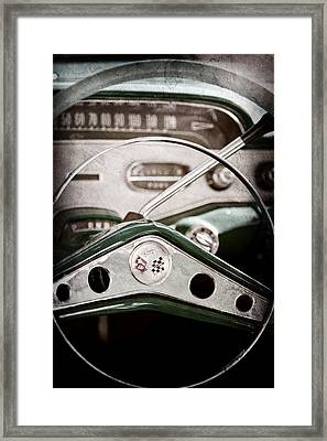 1958 Chevrolet Impala Steering Wheel Emblem Framed Print