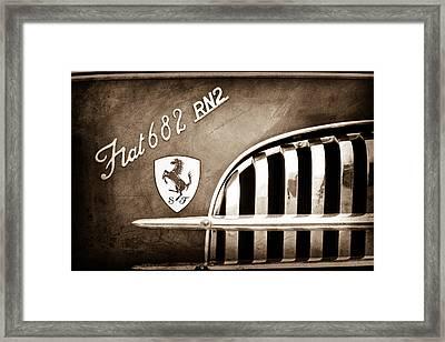 1959 Fiat Tipo 682 Rn-2 Transporter Emblem Framed Print