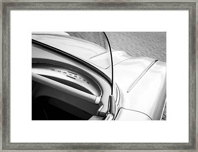 1960 Chevrolet Corvette Dashboard Emblem Framed Print by Jill Reger