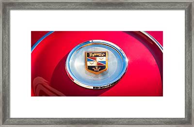 1960 Chrysler Imperial Crown Convertible Emblem Framed Print by Jill Reger
