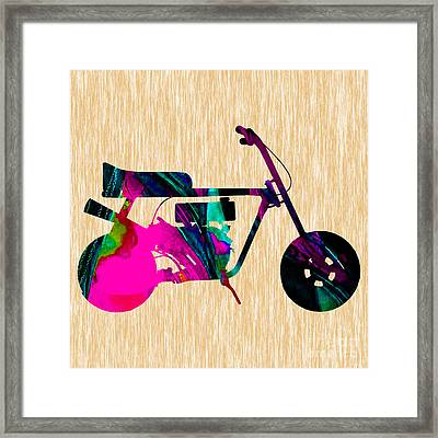 1960s Mini Bike Framed Print by Marvin Blaine