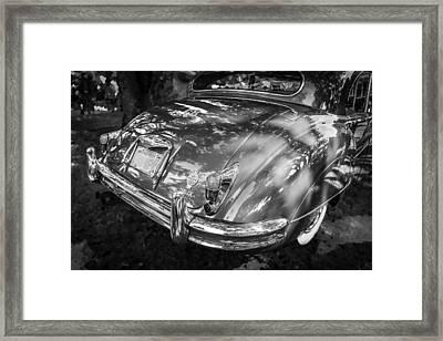 1961 Jaguar Mark Ix Saloon Bw Framed Print by Rich Franco