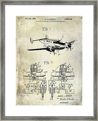 1961 Propeller Patent Blueprint Framed Print by Jon Neidert