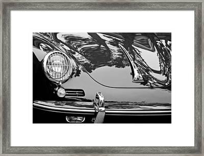 1963 Porsche 356 B Cabriolet Hood Emblem Framed Print by Jill Reger