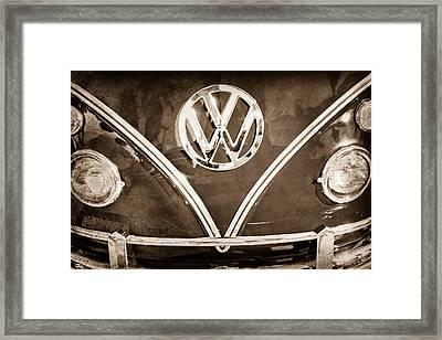 1964 Volkswagen Vw Double Cab Emblem Framed Print