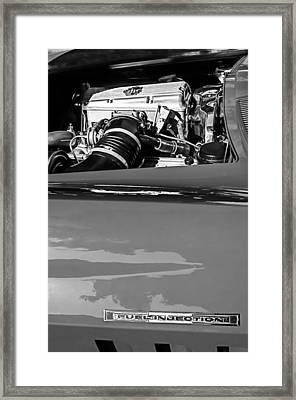 1966 Chevrolet Corvette Rds 427 Engine Framed Print by Jill Reger