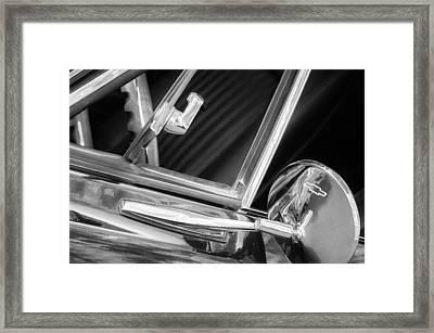 1967 Chevrolet Camaro Ss 350 Rear View Mirror Emblem Framed Print