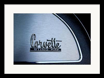 1967 Chevrolet Corvette Glove Box Emblem Framed Prints