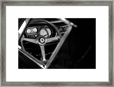 1967 Ferrari 275 Gtb 4 Steering Wheel Emblem Framed Print