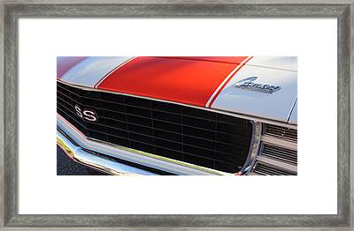 96 Inch Panoramic -1969 Chevrolet Camaro Rs-ss Indy Pace Car Replica Grille - Hood Emblems Framed Print