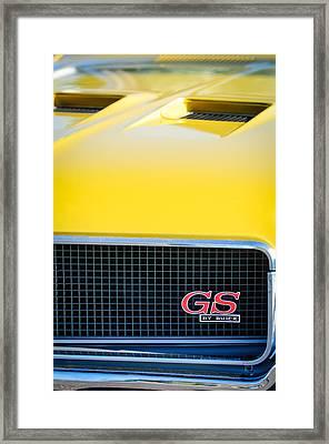 1970 Buick Gs Grille Emblem Framed Print