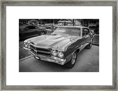 1970 Chevy Chevelle 454 Ss Painted Bw   Framed Print