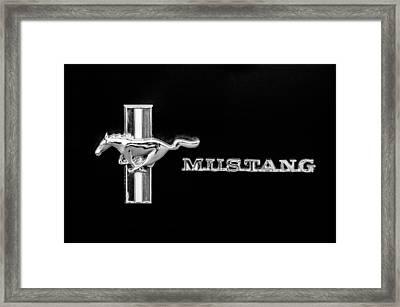 1971 Ford Mustang Boss 351 Emblem Framed Print by Jill Reger