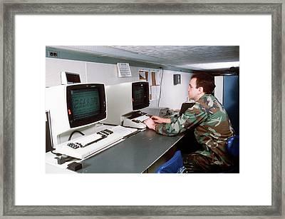 1980s Military Computing Framed Print