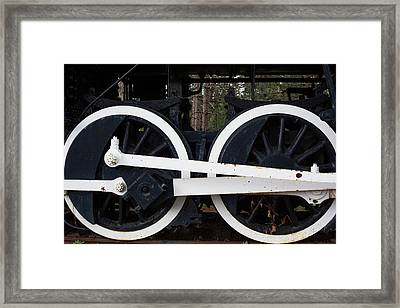 19th Century Steam Freight Train Framed Print by Jim West