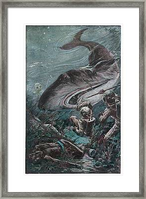 '20,000 Lieues Sous Les Mers' [20 000 Framed Print by Mary Evans Picture Library