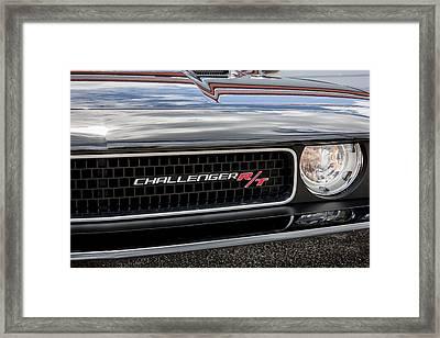 2011 Dodge Challenger Rt Black Framed Print