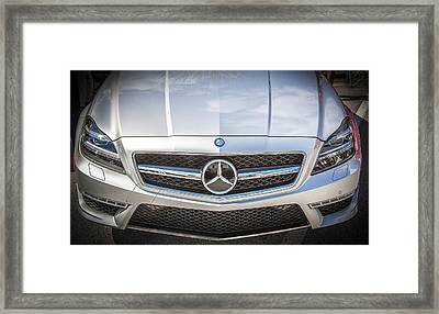 2012 Mercedes Cls 63 Amg Twin Turbo Bw Framed Print by Rich Franco