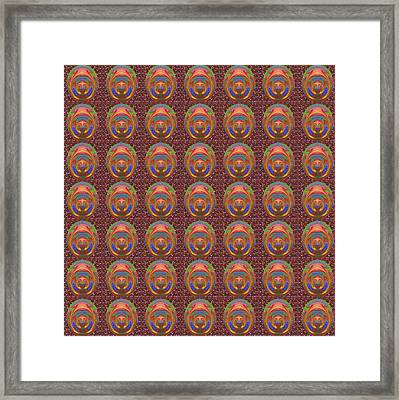 3dimentional Graphic Polar Coordinate Elegant Infinity Symbol Background Panorama Discount Sale Prom Framed Print